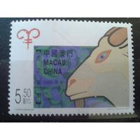 Китай Макао 2003 год козла