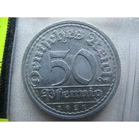 Германия 50 пфеннигов 1921 г. А (Веймарская республика (Марка)