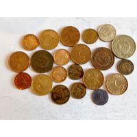 Монеты Болгарии с рубля.