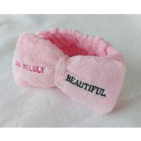 """Повязка для волос розовая Mary Kay, Мери Кей, Мэри Кэй. Повязка с надписью """"Be boldly beautiful"""" розового цвета. Косметическая повязка"""