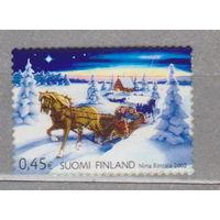 Финляндия Счастливое Рождество - самоклеящиеся марки 2002 год лот 4   менее 50%  от каталога