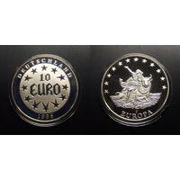Медаль (Германия) – 10 евро (1996) памятная медаль, посвященная переходу валюты Германии в Еврозону