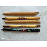 Ручки шариковые деревянные СССР. Цена за все