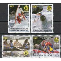 Спорт Нигер 1988 год серия из 4-х марок