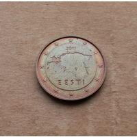 Эстония, 2 евроцента 2011 г.