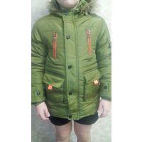 Детская зимняя куртка для мальчика 8-10 лет, рост 135 см