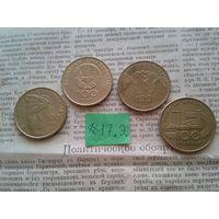 С РУБЛЯ! РЕДКИЕ!! Греция, Юбилейные 100 драхм! Все 4 шт- разные! (лот 17.Э)