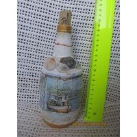 Бутылка декоративная для украшения интерьера