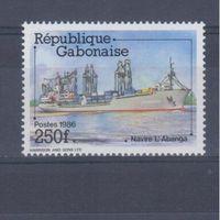 [963] Габон 1986. Корабль.