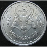 1к Мадагаскар 5 франков 1953 распродажа коллеции