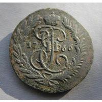 2 копейки 1766г ММ Перечекан с 4 копеек 1762г