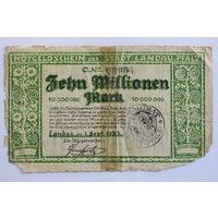 Германия (Ландау), 10 миллионов марок 1923 год.