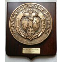 "Памятная медаль "" 1-й полк морской пехоты (Франция)"". Бронза. C 1 рубля! Без МПЦ!"