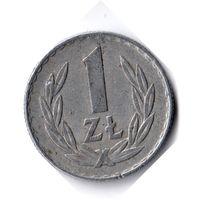 Польша. 1 злотый. 1974 г.