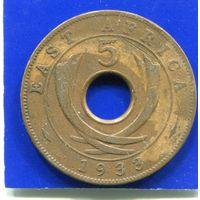 Британская Восточная Африка 5 центов 1933