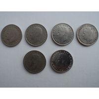 Лот монет Испании 5 песет