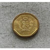 Перу 5 сентимо 2006 в блеске