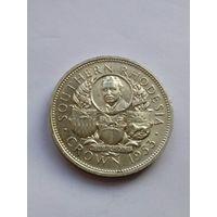 Южная Родезия 1 КРОНА 1953 ( 100-летие Сесил Родс ) серебро AU/UNC