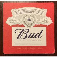 Подставка под пиво Bud No 2