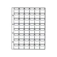 Лист для для монет на 48 ячеек, ячейка 30*30 мм