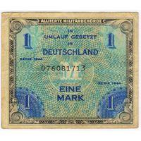 Германия. 1944 год., союзная оккупация, 1 марка.   серия 076081713
