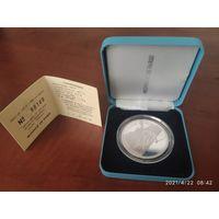 Франция 100 франков, 1989. Серебро.