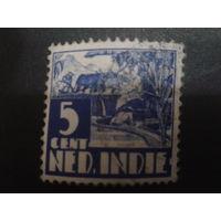 Нидерландская Индия 1934 Колония стандарт, пашет на быках