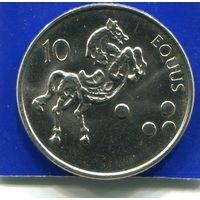 Словения 10 толаров 2004 UNC