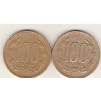 100 песо 1994, 1998 г.