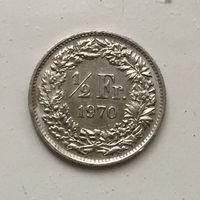 Швейцария, 1/2 франка 1970