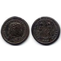 Фоллис 305-307, Диоклетиан, PTR - Трир. Достаточно редкая монета! Коллекционное состояние