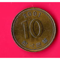 11-23 Южная Корея, 10 вон 2001 г.
