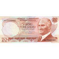 Турция 20 лир образца 1983-1987 года UNC p187b
