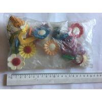 Крючки для одежды полотенец СССР цветы ромашки Новые в упаковке