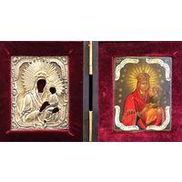 """Икона """"Споручница грешных"""" Богоматерь; Санкт-Петербург, 1860 год;84 проба"""