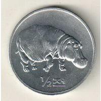 Северная Корея 1/2 чон 2002 Мир животных - Бегемот