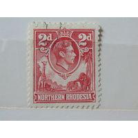 Северная Родезия 1941 г. Король Георг -VI.