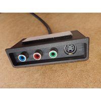 Кабель переходник адаптер mini-DIN 9 pin на S-video и RCA (Y, Pr, Pb/AV) для видеокарт Nvidia