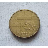Нидерланды 5 гульденов 1989