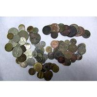 Монеты РИ, СССР,РФ, немцы более 100 штук