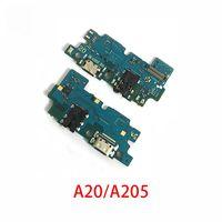 Шлейф для Samsung A205F (A20) плата системный разъем/разъем гарнитуры/микрофон