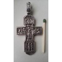 Крест двух сторонний серебро. Ручная работа 21 грамм.