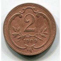 АВСТРИЯ - 2 ГЕЛЛЕРА 1909
