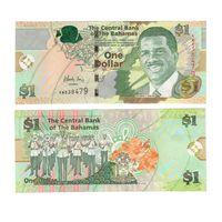 Банкнота Багамские о-ва 1 доллар 2015 UNC ПРЕСС духовой оркестр полиции