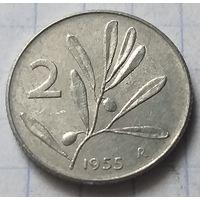 Италия 2 лиры, 1955      ( К-7-2 )