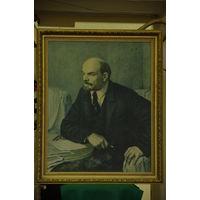Картина ( репродукция ) В. И. ЛЕНИН      ( 61 х 75 )