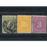 NL Колонии Нидерландская Индия (Индонезия) 1883 Номинал Стандарт #17,19,20