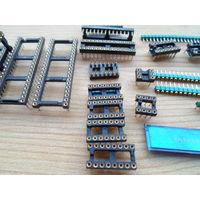 Настоящие цанговые панельки для микросхем, полная позолота, промка