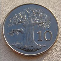 Зимбабве. 10 центов 2001 год  KM#3а