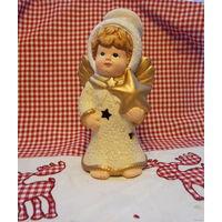 Рождественский Ангел со звездой . Подсвечник 20см